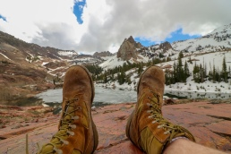 combat boots USMC united states marine corps wasatch national forest twin peaks wilderness area utah lake blanche sundial peak
