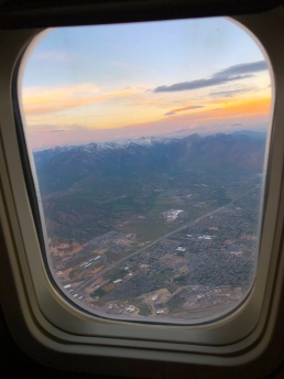 airplane window seat wasatch mountains utah salt lake city
